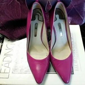 Ted Baker Fuschia & purple 4 inch heel pumps Sz 8